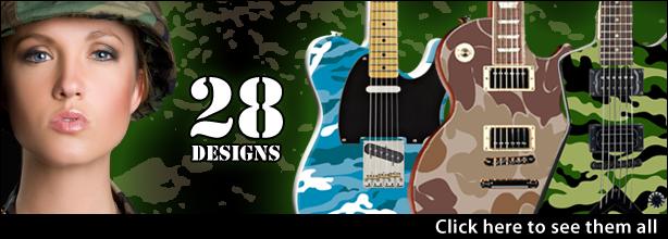 28 Camo Guitar Designs.